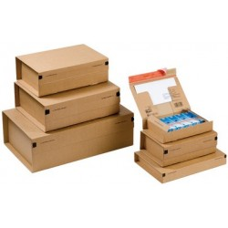 """Colompac carton d'expédition de paquets """"poste"""", taille: sm, (LOT DE 20)"""