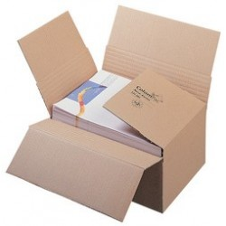 Colompac carton à fond automatique, pour formats a4, marron (LOT DE 20)