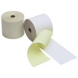 Kores rouleaux caisse, 2 couches blanc/jaune, 76 mm x 25 m x (LOT DE 5)