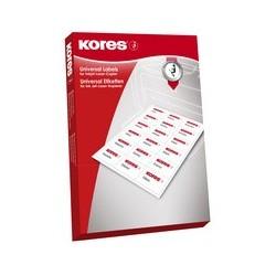 Kores etiquettes pour cd/dvd, diamètre: 117 mm, blanc