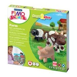"Fimo kids kit de modelage form & play ""farm"", level 1"