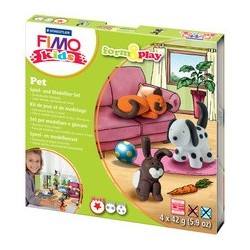 "Fimo kids kit de modelage form & play ""pet"", level 1"