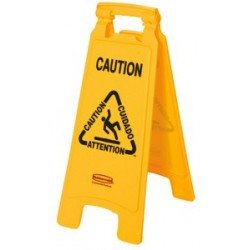 "Rubbermaid panneau d'avertissement ""caution wet floor"""