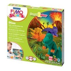 "Fimo kids kit de modelage form & play ""dino"", level 2"