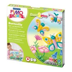 "Fimo kids kit de modelage form & play ""butterfly"", level 1"
