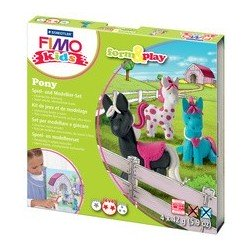 "Fimo kids kit de modelage form & play ""pony"", level 2"