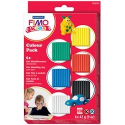 "Fimo kids kit pâte à modeler colour pack ""basic"", set de 6"